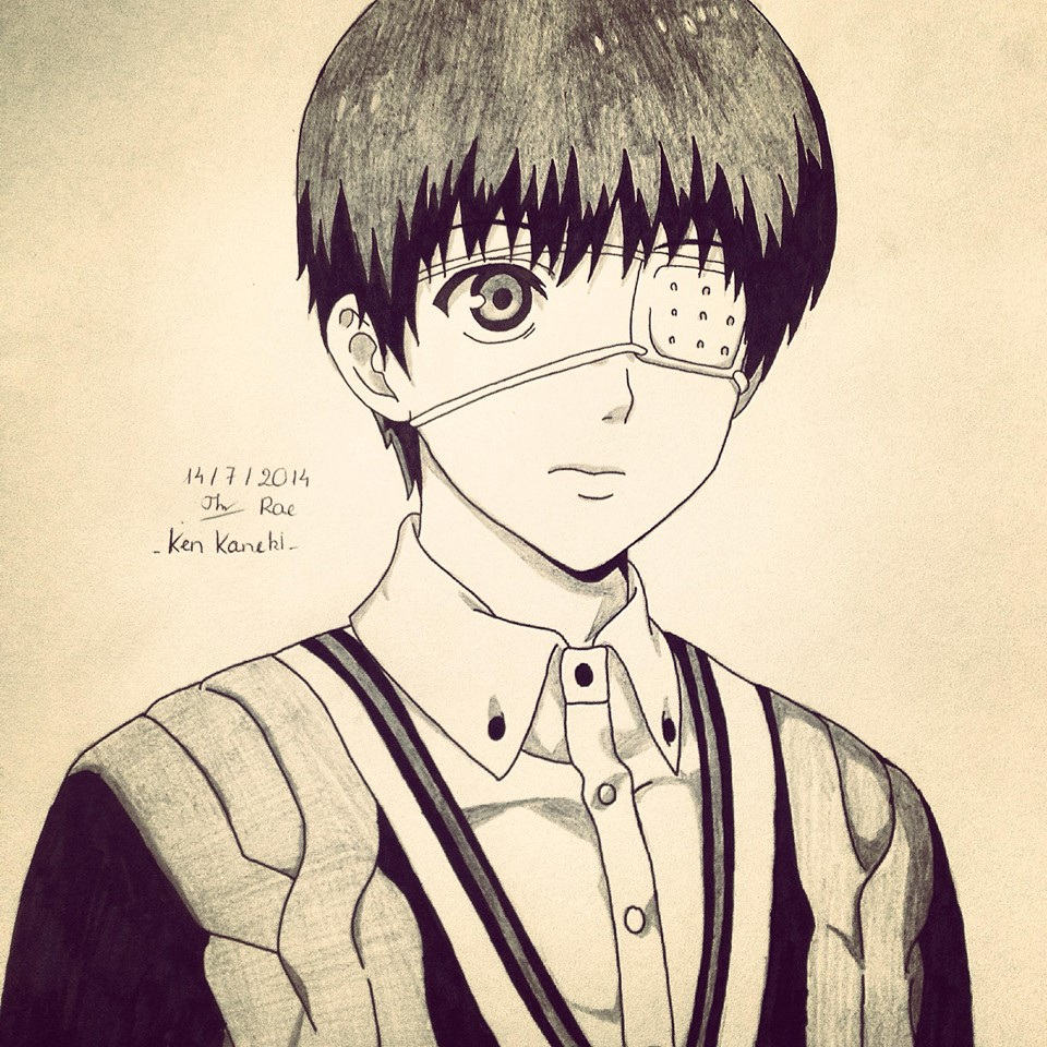 Tokyo Ghoul ( Ken Kaneki ) Fan Art By Raeinspirit7 On
