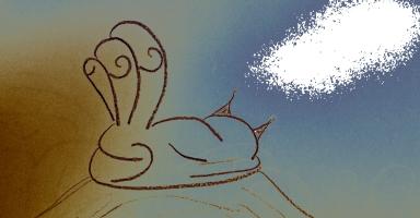 Tri-Tail Dreamer Cat by bradmesz