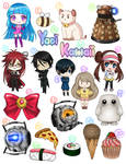 [FOR SALE} Anime Character Stickers...and food