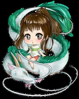 Spirited Away - Chihiro and Haku