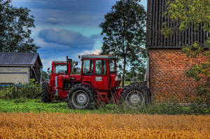 The red tractor by IndependentlyConceal