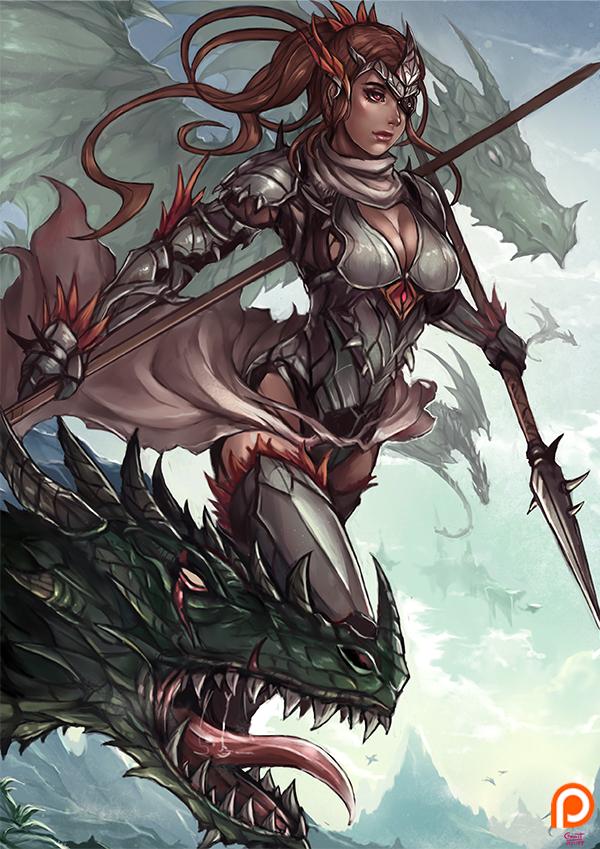 Wyvern Knight by kachima