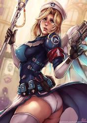 Mercy Combat medic skin , Overwatch by kachima