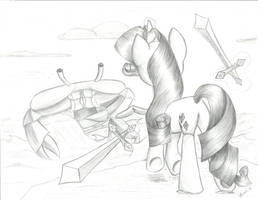Rarity Fighting Giant Crab