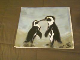 Kissing Penguins by Konack1