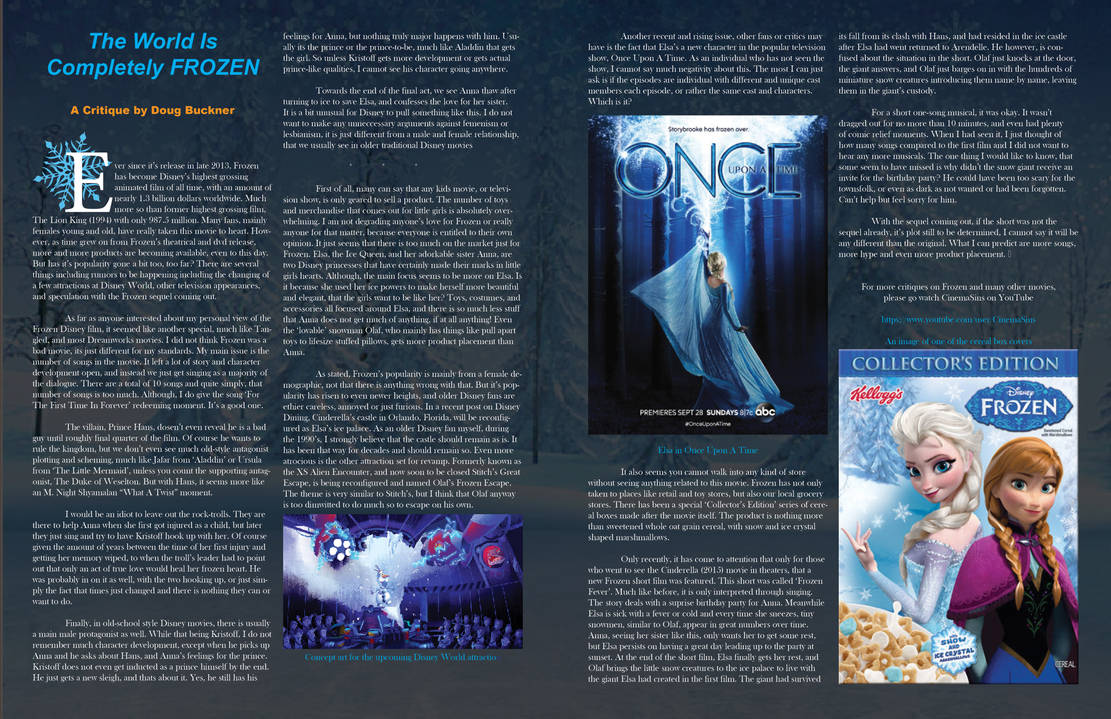 Frozen DoubleSpread Critique