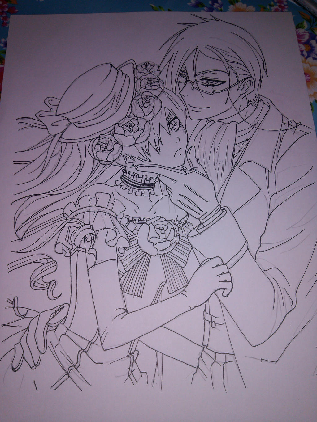 Black Butler - Ciel/Sebastian Sketch by asha0