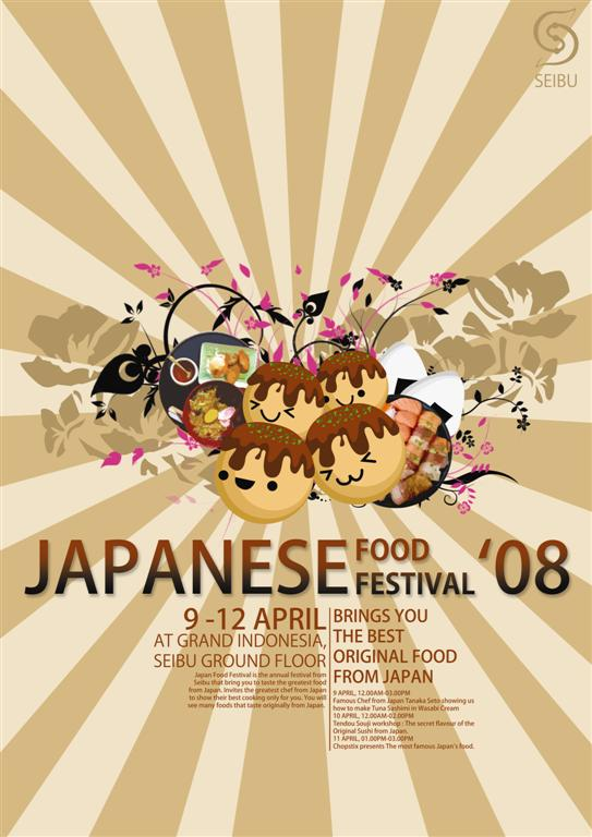 Japanese Food Fest Poster By Sukiafat