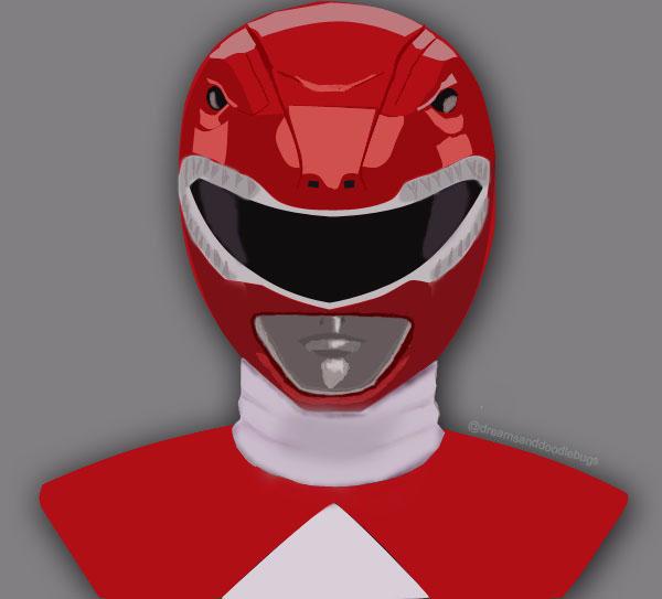 Red Power Ranger Digital Painting By Dreamsanddoodlebugs On Deviantart