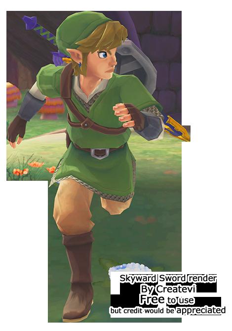 Link Skyward Sword Render By Createvi