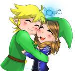 Link Hugging My friend(Request)