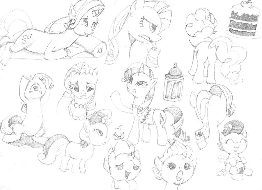 how to draw a mlp cotton mouth