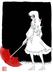Red Umbrella :: by Jasrah