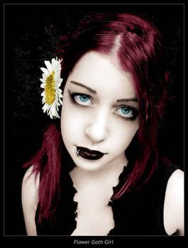 Flower Goth Girl