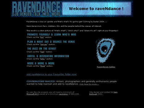 Website - Ravendance