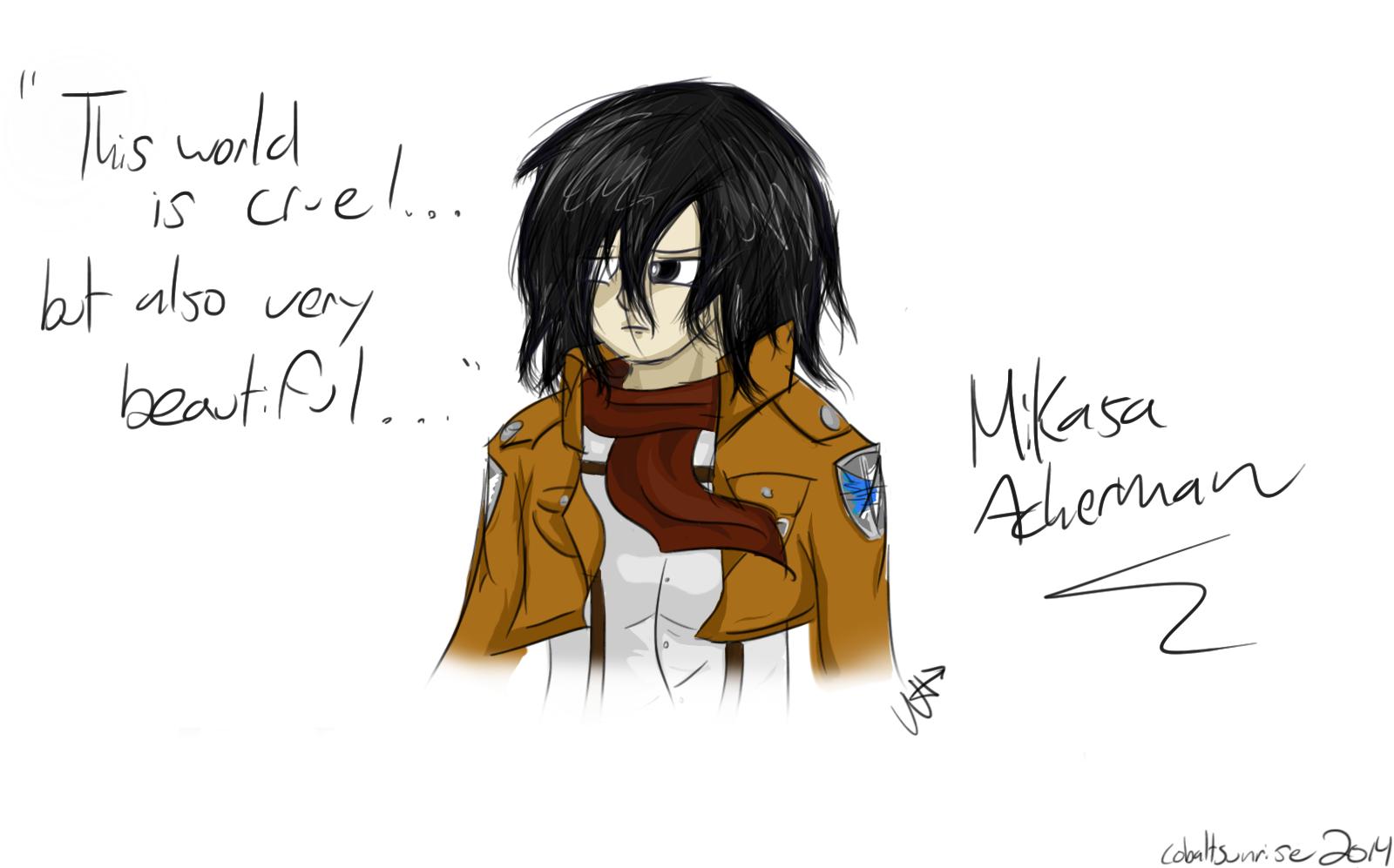 Mikasa ackerman by cobaltsunrise on deviantart - Mikasa es su casa ...