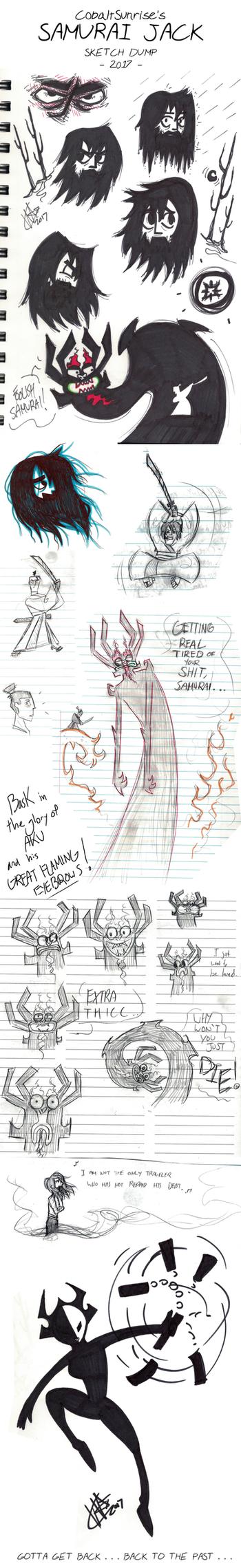 SAMURAI JACK - Sketch dump by CobaltSunrise
