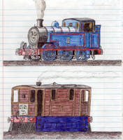 Schoolbook Sketches- Thomas and Toby by 01Salty