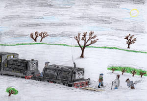 ERS Illustration: 'Little Engines in the Snow' #1