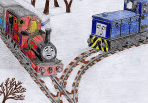 ERS Illustration: 'Little Engines in the Snow' #2