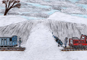 ERS Illustration: 'Little Engines in the Snow' #3
