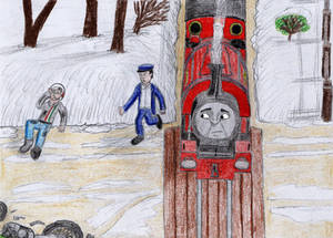 ERS Illustration- 'Little Engines in the Snow' #4