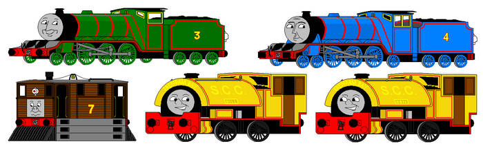 Early MS Paint Art: Classic Awdry Engines
