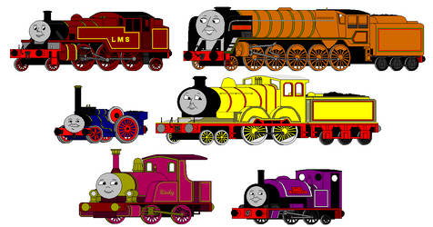 Early MS Paint Art: Non-Awdry Engines
