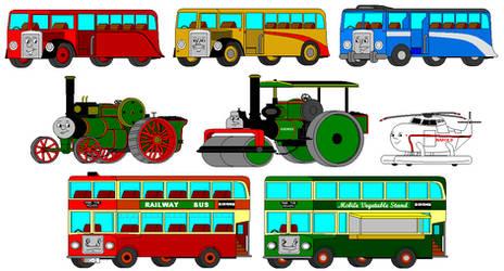 Early MS Paint Art: Non-Rail Vehicles