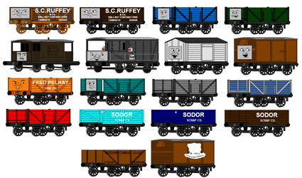 Early MS Paint Art: Rolling Stock