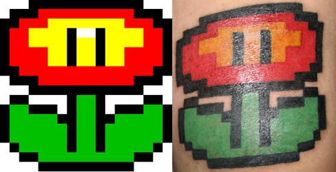Fire Flower Tattoo