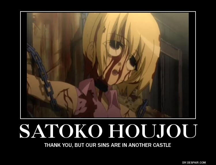 Satoko Demotivator By Aurashaman On Deviantart