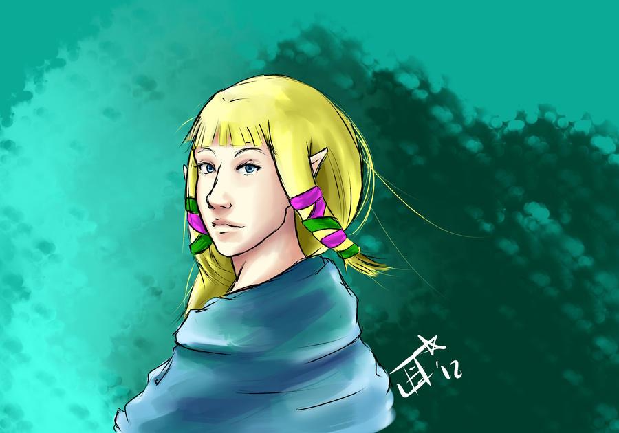 Skyward Sword Zelda by Ladywiththeface