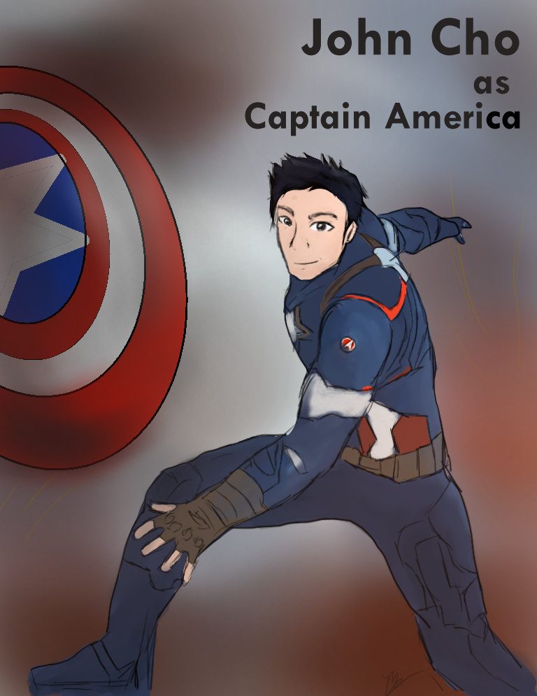 Captain America starring John Cho by FangirlDayandNight