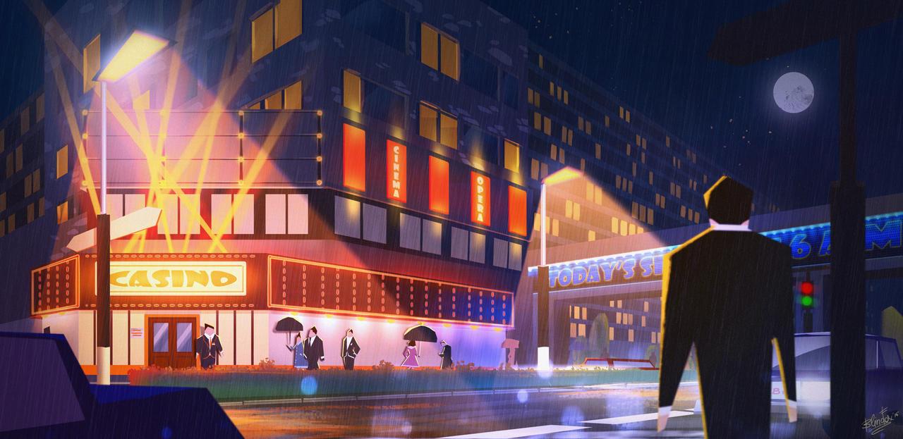 CasinoNightStreet by FancyFoxy