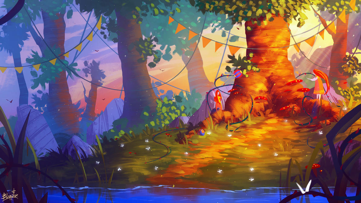 ForestVolleyball by FancyFoxy