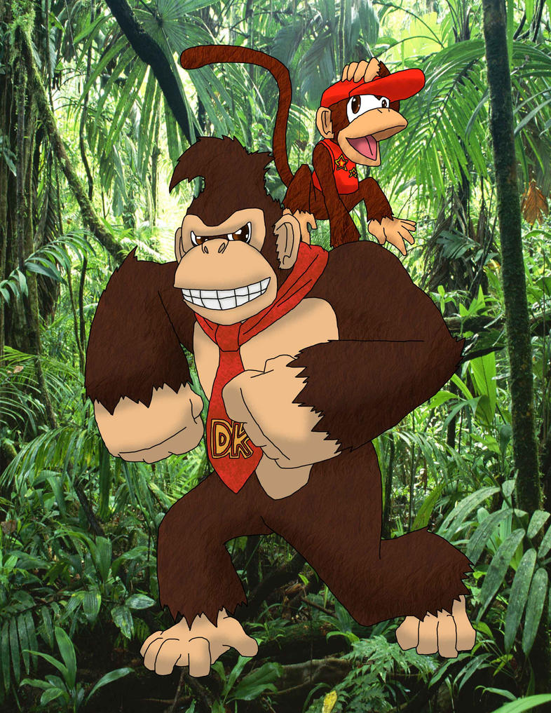 Donkey Kong and Diddy Kong by 626key