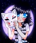 Youkai moon foxes