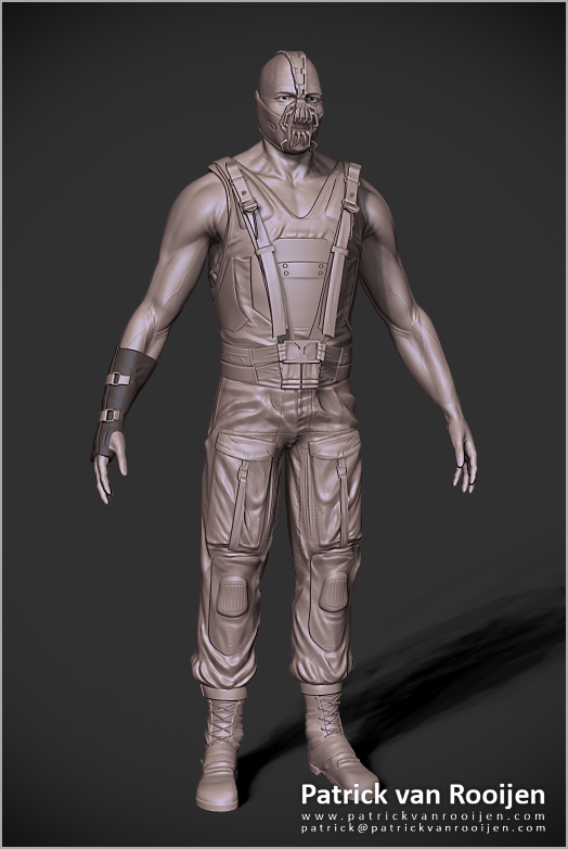 Bane - The Dark Knight Rises - Work in Progress by PatrickvanR