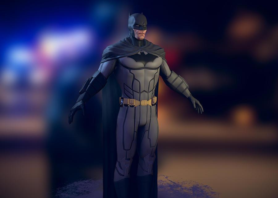 Batman 3d Texture WIP by PatrickvanR