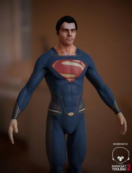 Superman - Man of Steel (Low Poly WIP)