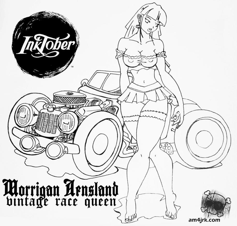 Inktober-1 Morrigan RaceQueen by am4jrk