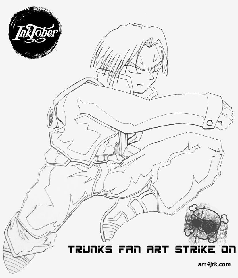 inktober-2 Trunks Strike On by am4jrk