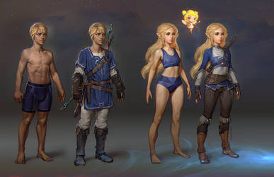 2021 Practice 02 - The Legend of Zelda Fan Art