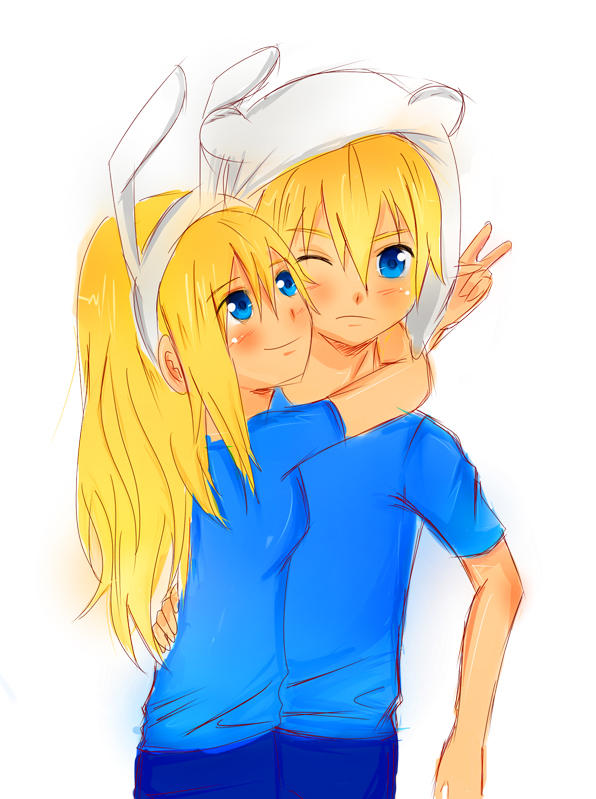 Fionna And Finn Anime Style By Demonshirley On Deviantart