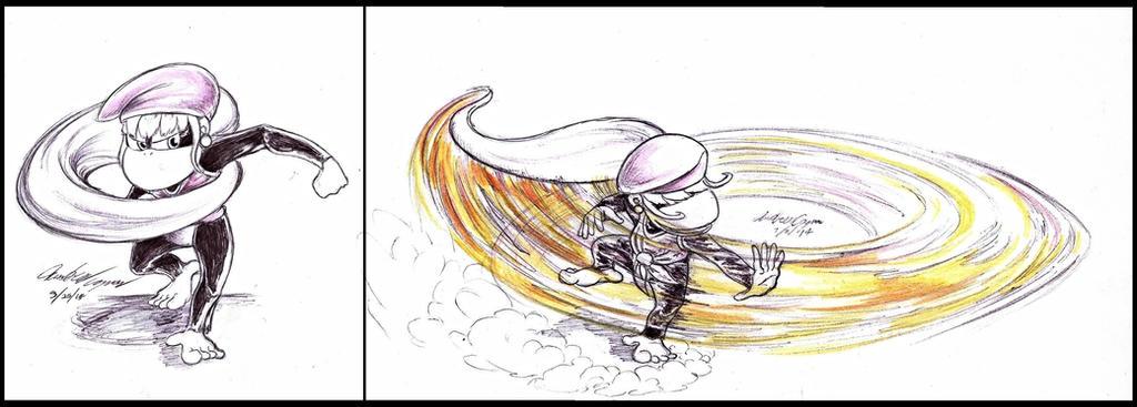 Whiplash Smash--Dixie's Forward Smash Idea for SSB by GeneticDestiny