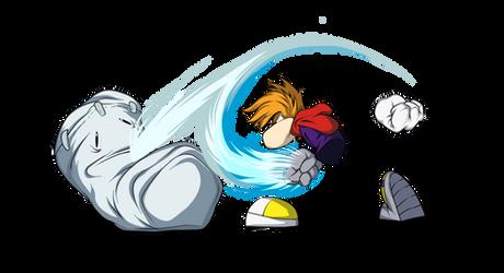 Rayman Back Throw