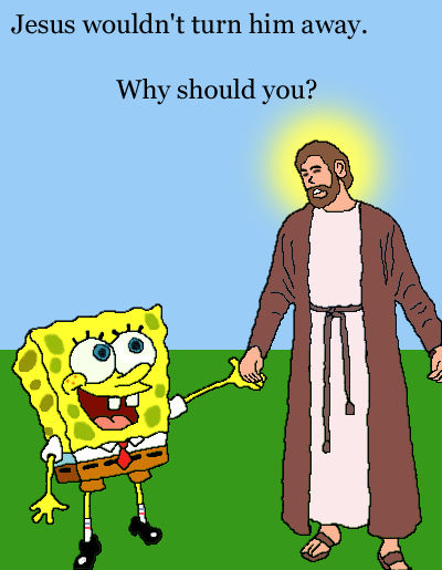 Jesus and SpongeBob