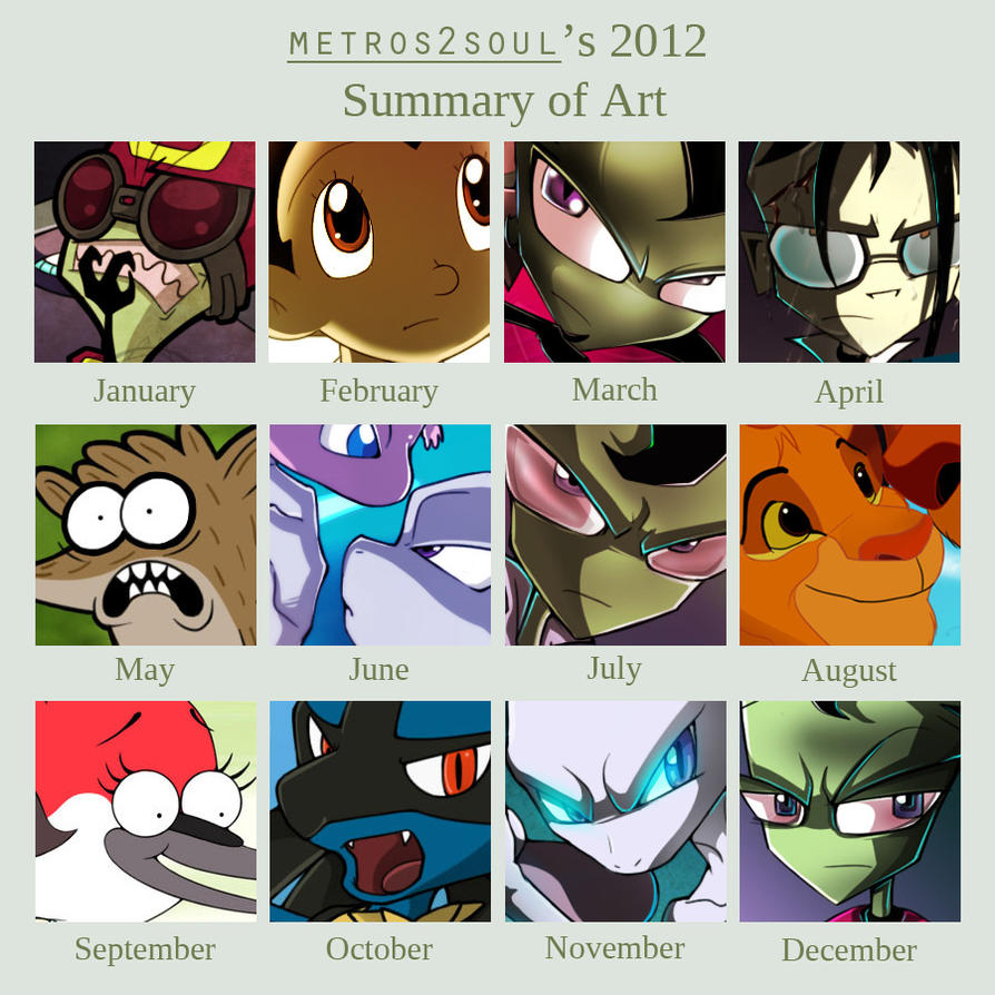 2012 Summary Of Art by Metros2soul