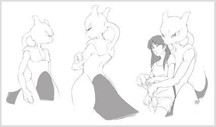 Mewtwo (speed sketches)